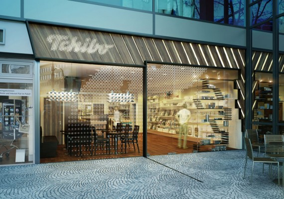 Tchibo Coffee Facade Re-branding